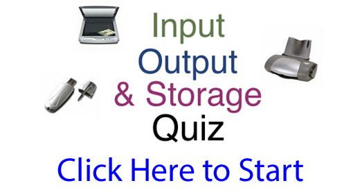 Input, Output and Storage Quiz