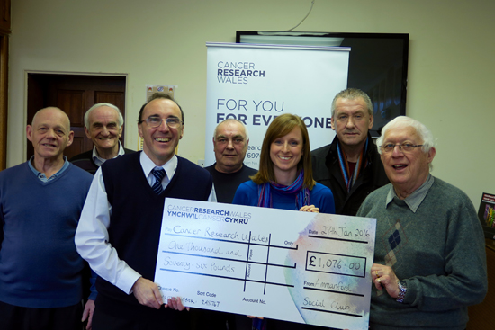Presentation to Cancer Research Wales